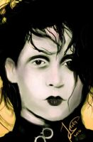 Edward scissorhands portrait by jeroenart
