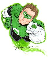 Green lantern Hal Jordan by ChrisOzFulton