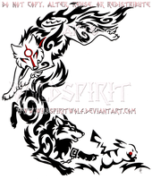 Wolf Link, Amaterasu, + Pikachu Crescent Design by WildSpiritWolf