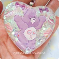 Care Bears and Candy Heart Necklace by CatNapCaps