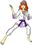 Daphne costume karate by Rhykross