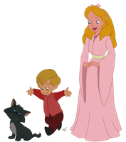 Disney x GoT - Tommen and Myrcella Baratheon by Qemma