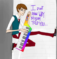 While My Keytar Gently Weeps by air-smash