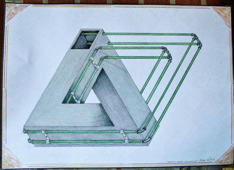 Penrose triangle with plumbing by Jacksonfaction