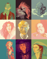 Palette doodles by Radiolaire