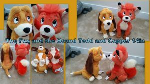 The Fox and the Hound Todd and Copper 14in by Vesperwolfy87