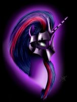 Twilight Sparkle Warrior by Skitsniga