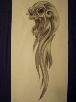 Tribal Skull pic1 by slayer720