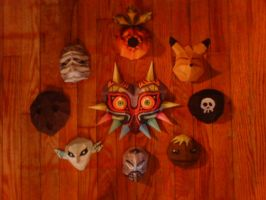 Majora's Masks by Christinabean