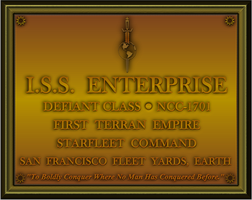 ISS Enterprise Plaque by viperaviator