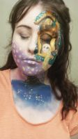 tangled face paint :) by Blueberrystarbubbles
