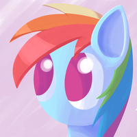 Rainbow Dash Portrait by Sharkwellington