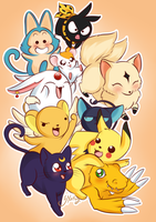Anime Friends by SNathy