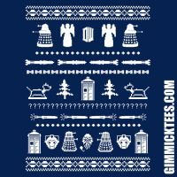 DOCTOR WHO HOLIDAY SWEATER PATTERN by GimmickTees