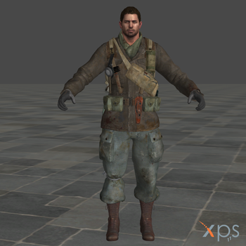 Chris Redfield BO3 Zombies Mesh Mod for XPS by SaltPowered