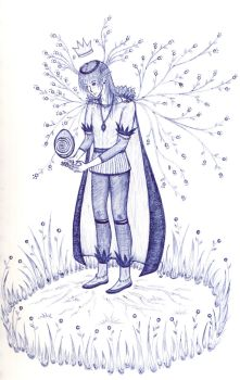 lonely wood elf by Xotary