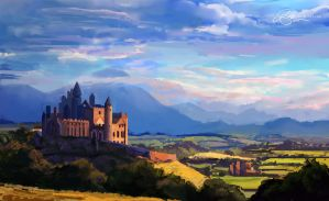 The Rock of Cashel by shellz-art