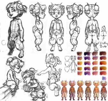 Tina Redesign WIP by Catnip1996