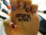 Angry Birds Nail Art by damselindisdress