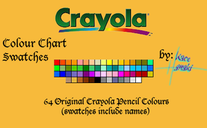 Crayola Pencils - 64 Swatches by Suspiria-Ru