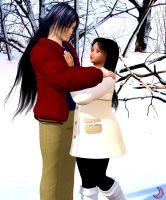 Lovers in the snow by Aisiko