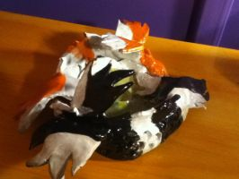 Koi fish candle holder by neon-talon-claw