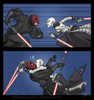 Maul vs Ventress by marimoreno