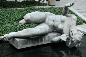 In MOMA sculpture garden 1 by wildplaces