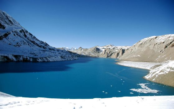 Tilicho Lake Widescreen by Michel8170