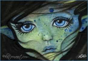 Sea Elf ACEO by Katerina-Art