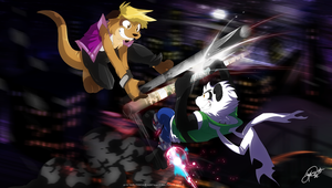 Tairu + Alex Sparring Skyhigh by super-tuler