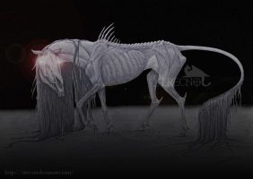demon horse by Strecno