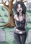 Death Walks ACEO by CrystallineColey