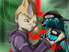 Characters with TV Characters~ Riptide and Odd by Aelita-wolf