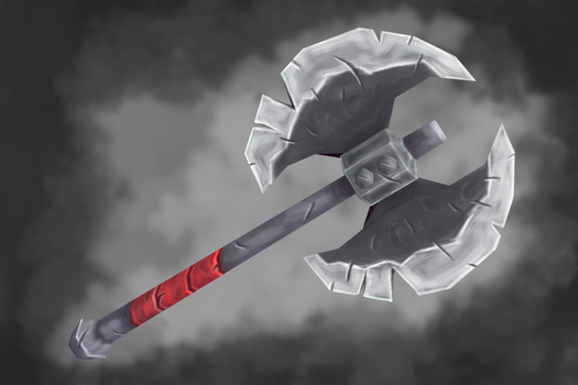 Hand Painted Axe by Guizx