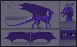 Glennore the Purple - reference sheet by TheBlack-Arrow