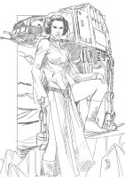 Leia drawing..... by Ruihq