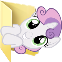 Custom Sweetie Belle folder icon by Blues27Xx