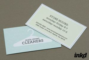 Dry Cleaners Business Card by inkddesign