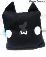 Black Cat Plush Pillow by CosmiCosmos