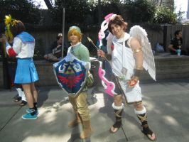 Sakura-Con 2013: Link and Pit by XGamer-MaidenX