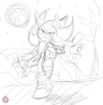 Dark Sonic doodle by shadowhatesomochao