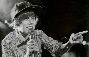Justin Bieber Portrait - Speed Drawing Italia by Speeddrawingitalia