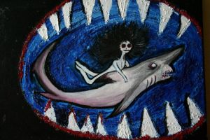 I'M RIDING A MOTHERF****ING GOBLIN SHARK by Akiraauger