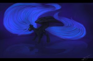 Luna becomes Darkness. For this time - forever. by nightskrill