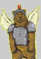 Winged Bear in shinning Armor by arower2020