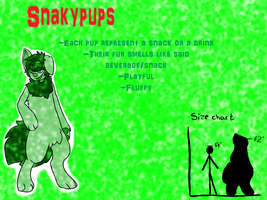 SnackyPups -species chart- by AgenderedKing