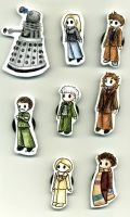 doctor who - chibi magnets by Guardy