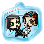 Frostiron Keychain Commission by ChibiTsubaki