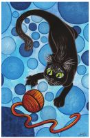 A Playing Cat by Mclawliet